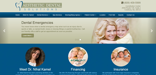 Medical Website Design Sample